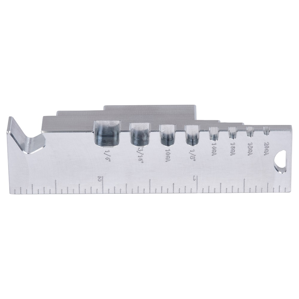 Side profile of the door gap gauge focusing on the beer bottle opener and material thickness  sc 1 st  All Things Inspector & Buy a Fire Door Gap Gauge Now to check your fire rated door clearances